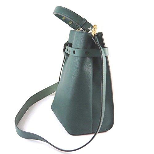 Bolsa de diseñador 'Nica'verde (2 compartimentos)- 28.5x26x17 cm.