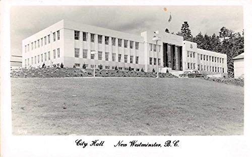 New Westminster BC Canada City Hall Real Photo Antique Postcard J79339 (Hall City Canada)