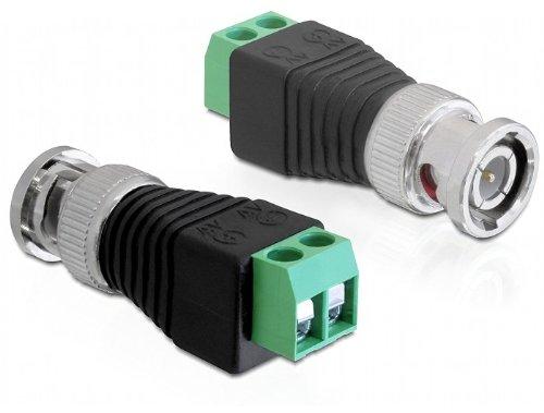 BNC, 2p, Macho, Negro, Gris, Plata Gris Adaptador para cable DeLOCK 65323 adaptador de cable BNC 2p Negro Plata