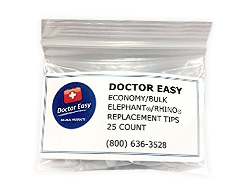 Doctor Easy Economy/Bulk Elephant & Rhino Replacment Tips, Bag of 25