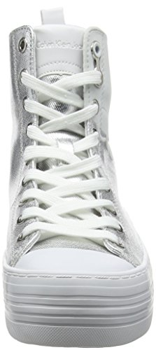 Alto Svw 000 Calvin Canvas Zazah a Sneaker Klein Collo Flocking Metal Donna Argento a7PUa8wq