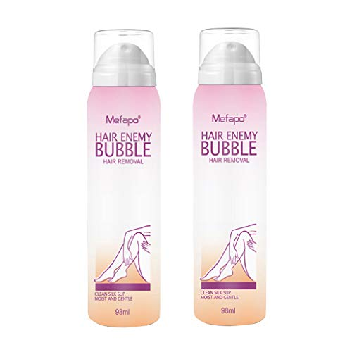2Pcs Hair Removal Cream, KCPer No Damage No Pain Anti Allergic Mousse Spray Foam Mousse Creams Depilatories for Both Women and Men - Hair Spray Remover