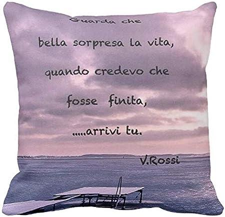Pillow Pillow Cuscino Personalizzato 40x40 Frase Canzone Vasco
