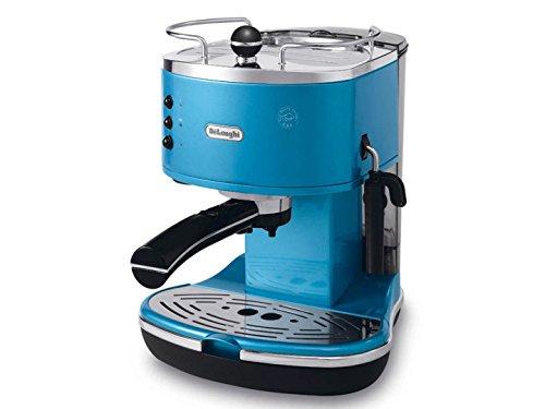 De'Longhi Eco 311.B Cafetera con compresor de café integrado, Acero Inoxidable, plástico, Azul