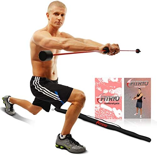 Total Bar Exercise Bar and Shoulder Rehabilitation Equipment Includes Carrying Case, Nutrition Booklet, and Workout Booklet