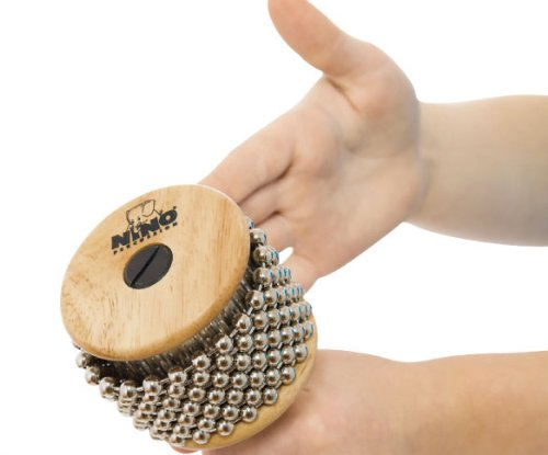 Nino Percussion Kids/' Cabasa, Small Size - NOT MADE IN CHINA - Beech Wood, for Classroom Music or Playing at Home, 2-YEAR WARRANTY, NINO701