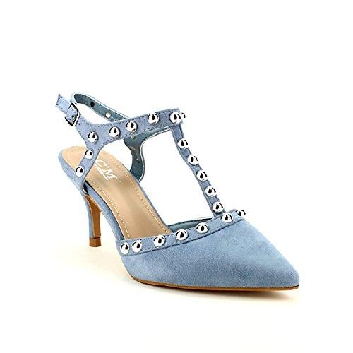 Chaussures Bleu Cendriyon Ciel Escarpins Femme C'M Bleu zq6OqC