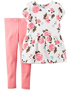 Baby Girl Tunic and Legging set Floral!