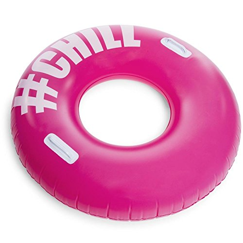 Chill Hashtag Inflatable Water Swim Ring Tube 42 inches