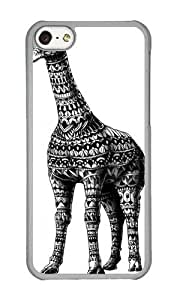 Apple Iphone 5C Case,WENJORS Adorable Ornate Giraffe Hard Case Protective Shell Cell Phone Cover For Apple Iphone 5C - PC Transparent