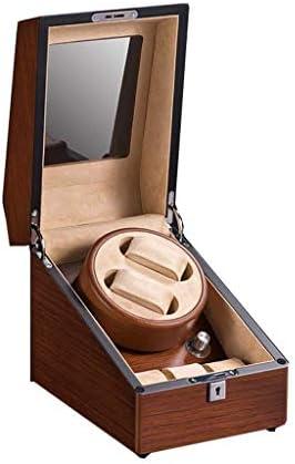 ギフトウォッチワインダーウォッチワインダーボックス樹皮パターン2 + 3木製の機械式時計自動ウォッチボックスモーターボックスエレクトリックウォッチボックスウォッチワインダー