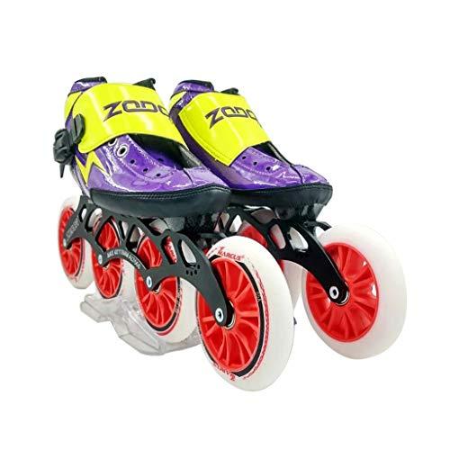 有能なメンターゲートウェイailj スピードスケート靴4 * 120MM調整可能なインラインスケート、ストレートスケート靴(3色) (色 : イエロー いえろ゜, サイズ さいず : EU 40/US 7.5/UK 6.5/JP 25cm)