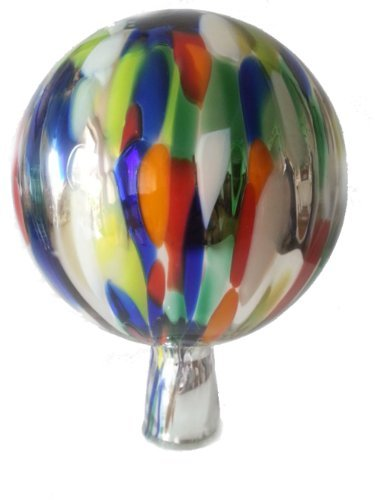gazing-ball-garden-ball-of-mouth-blown-glass-in-silver-multi-colored-mirrored-shades-diameter-approx