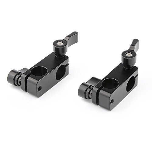 CAMVATE Right Angle Rod Clamp 15mm Rod 90 Degree Rotate for Video Camera DSLR Rig(2 PCS)