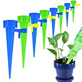 HSWT Plant Waterer Spikes Devices,Automatic Plant Watering Spike System with Slow Release Control Valve Switch,Vacation Plant Self Irrigation Watering Drip Devices (12Pcs)