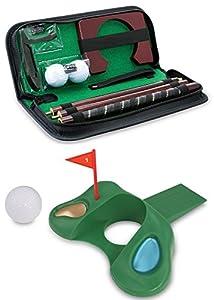 KOVOT Golf Gift Set - Portable Golf Putting Travel Set + Golf Door Stopper by Kovot