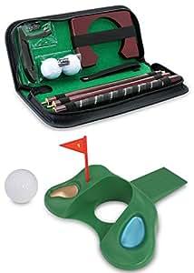 KOVOT Golf Gift Set - Portable Golf Putting Travel Set + Golf Door Stopper