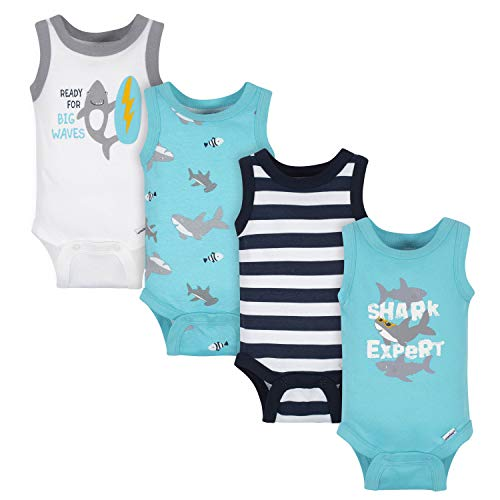 Gerber baby-boys 4-pack Sleeveless Onesies Bodysuit