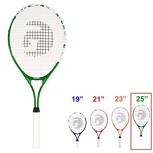 Gamma Sports Junior Tennis Racquet: Quick Kids 25 Inch Tennis Racket - Prestrung Youth Tennis Racquets for Boys and Girls - 93 Inch Head Size - - Tennis Youth Racket