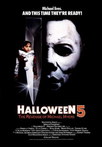 Halloween 5: The Revenge of Michael Myers POSTER Movie (1989) Style B 11 x 17 Inches - 28cm x 44cm (Donald Pleasence)(Ellie Cornell)(Danielle Harris)(Don Shanks)(Betty Carvalho)(Beau Starr)(Wendy Kaplan)