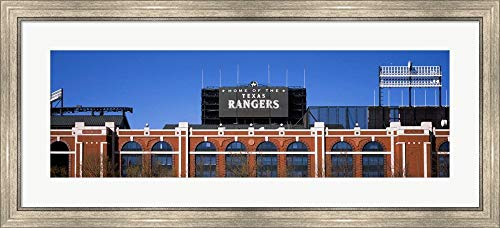 Rangers Ballpark, Dallas, Texas by Panoramic Images Framed Art Print Wall Picture, Silver Scoop Frame, 42 x 19 inches -