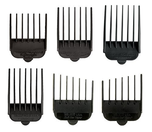 Wahl Professional Animal Clipper Attachment Guide Comb Grooming Set for Wahl's Show Pro Plus, Deluxe Essentials, Iron Horse, Pro Ion, U-Clip and Deluxe U-Clip Pet, Dog, Cat, and Horse Clippers (#3168-500)