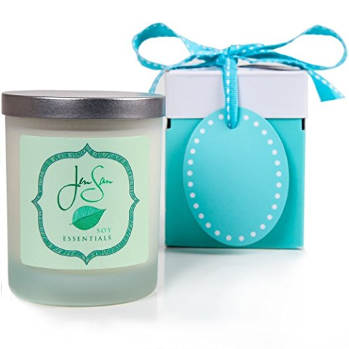 JenSan Yuletide Natural Soy Candle for Christmas Holidays - Handmade and Scented with Essential Oils