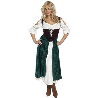 Costume Halloween Esmeralda.Amazon Com Esmeralda Village Wench Adult Costume Size Large Clothing