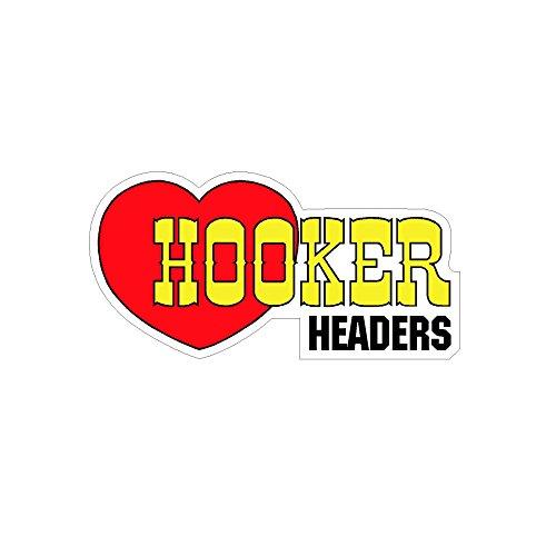 - Signs By Woody Hooker Headers Vintage Drag Racing Window Sticker Decal NHRA Rat Rod Street Rod