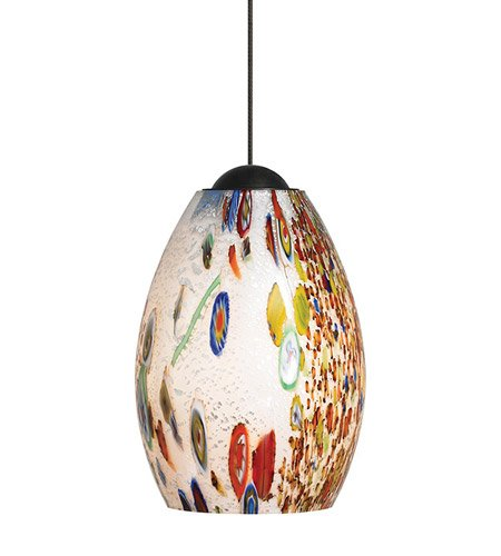 LBL Lighting HS338OPSC1B50MPT Mini-Monty Low Voltage Pendant, Satin Nickel Finish with Opal Glass - Light 1 Monty Mini