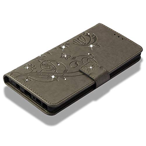 point Galaxy Samsung Coque En Premium Note Diamants Etui De Simple 9 point Pour Housse 9 Bonroy Cuir Case Gris Forage Portefeuille Flip Gaufrage Rouge YdZwnqExZ5