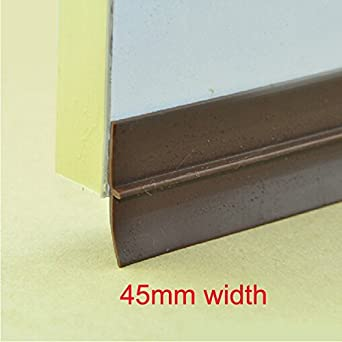 4 Feet Rubber Type Door Fitting Bottom Door Seal Brown Aluminum Frame For  Gap 2