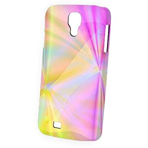 Case Fun Samsung Galaxy S4 (I9500) Case - Vogue Version - 3D Full Wrap - Yellow and Pink Swirls