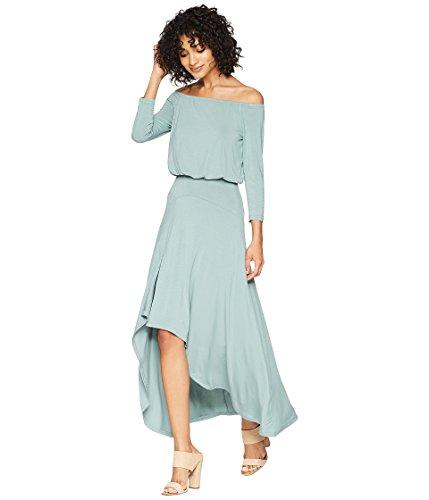 American Rose Women's Kai 3/4 Sleeve Off The Shoulder Dress Sea Green Medium