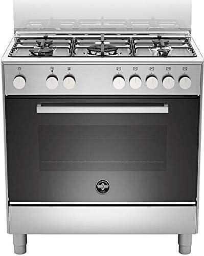 Cocina de gas con horno eléctrico, N° 5 fuegos, 80 x 50 cm ...