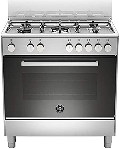 Cocina de gas con horno eléctrico, N° 5 fuegos, 80 x 50 cm, color ...