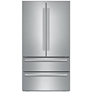 Bosch B21CL81SNS 36 Counter Depth French Door Refrigerator with 20.7 cu. ft. Capacity 2-Drawer Freezer Full Width Chiller and Dual AirCool System in Stainless Steel