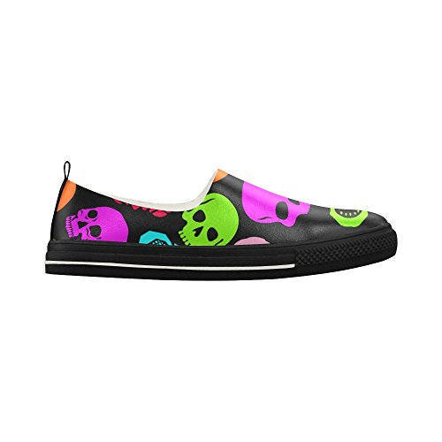 Shoes Colori Mens Skull Story Custom Colors D Slip Sneaker Psychedelic on Microfiber xn7BvIIw