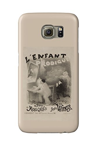 L'Enfant Prodigue Vintage Poster (artist: Willette) France c. 1890 (Galaxy S6 Cell Phone Case, Slim Barely There)