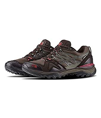 The North Face Hedgehog Fastpack GTX Hiking Shoe - Men's Coffee Brown/Rosewood Red 7 Wide