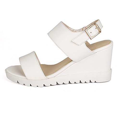 Muffin White Sandals Buckle Soft American Buttom Girls 1TO9 Material 8wn0EPqOI
