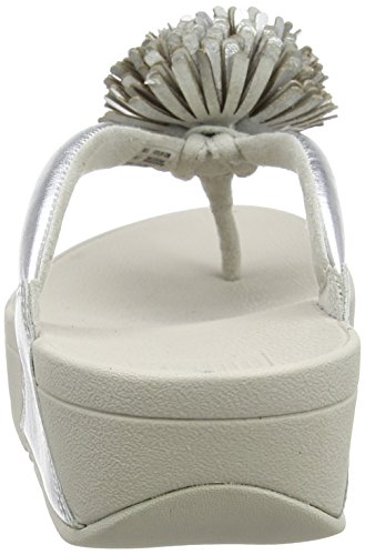 Flop Flip Post Toe Silver Women's fitflop Flowerball Leather YwqxCOnz1