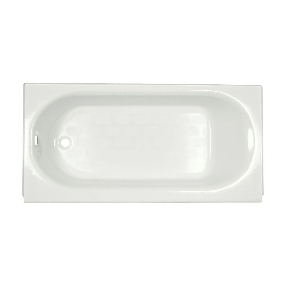 American Standard 2394.202.020 Princeton Recess 5-Feet by 34-Inch Left-Hand Drain Bath Tub with Luxury Ledge, White by American Standard (Image #1)