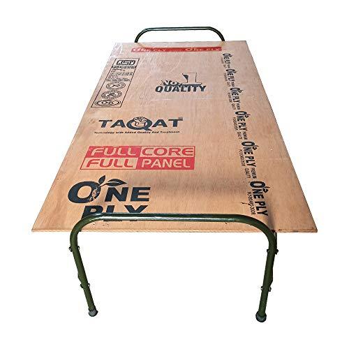 AARAM CHARPAI UDYOG Smart Plywood Folding Bed |Round Metal Size 36×72