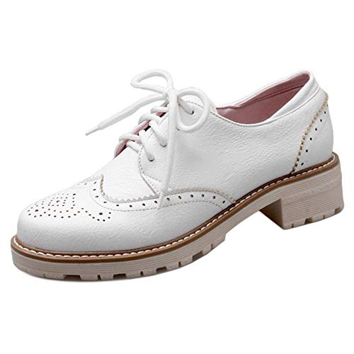 Qiusa Up Pumps Femmes Classic Chaussures Brogue Lace 17T41rq
