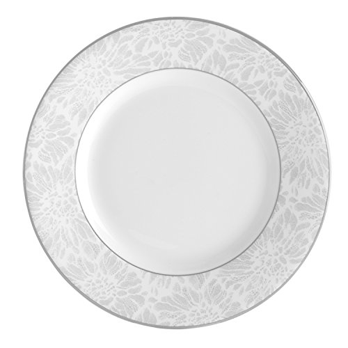 Wedgwood Vera Chantilly Lace Gray Bread & Butter Plate, -
