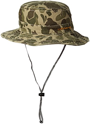 Carhartt Mens Billings Boonie Hat  Burnt Olive Camo  M L