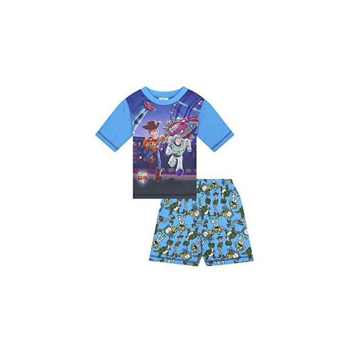 41VVCls9zUL Con licencia de Disney, este pijama de Toy Story con Buzz Lightyear y Woody seguro que será de sus favoritos. Estampado duradero de borde a borde. Manga corta y pantalón corto con cinturilla elástica. Bonito patrón de Buzz y Woody en la parte inferior. Estos pijamas tendrán gran éxito. Producto oficial de Disney. 80% Algodón, 20% Poliéster