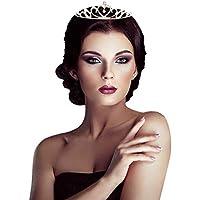 Lfhing Tiara de cristal para novia, boda, fiesta, princesa, baile de graduación, corona para niños, niñas, accesorios…