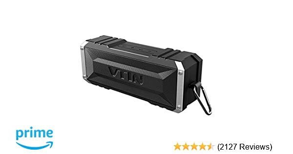 Vtin 20W Bluetooth Speaker, Shockproof Outdoor Speaker with 30H Long  Playtime, Loud Stereo Sound, IPX5 Waterproof, Detachable Hook, Portable  Bluetooth